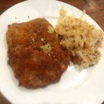 Finished venison schnitzel dish
